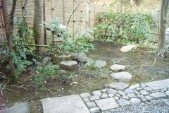 茶事ができる庭